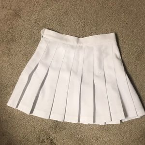 White american apparel tennis skirt
